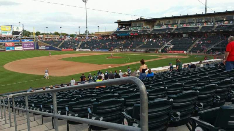 Seating view for Coca-Cola Park Section 120 Row Y Seat 1