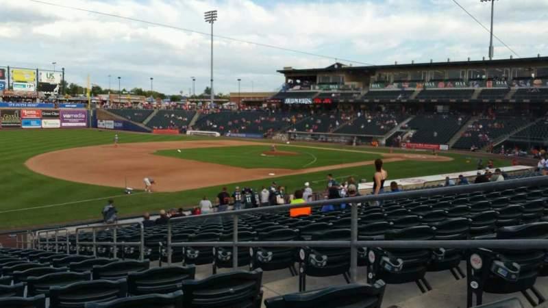 Seating view for Coca-Cola Park Section 120 Row Y Seat 4