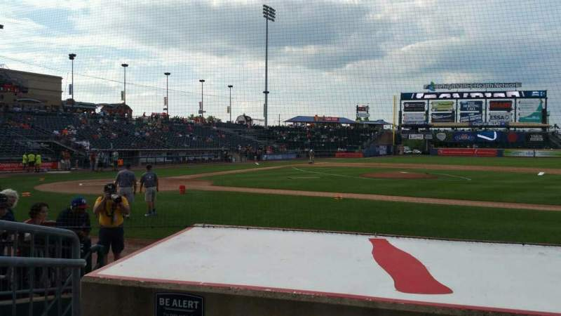 Seating view for Coca-Cola Park Section 107 Row G Seat 1
