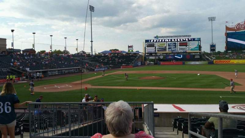 Seating view for Coca-Cola Park Section 108 Row R Seat 20
