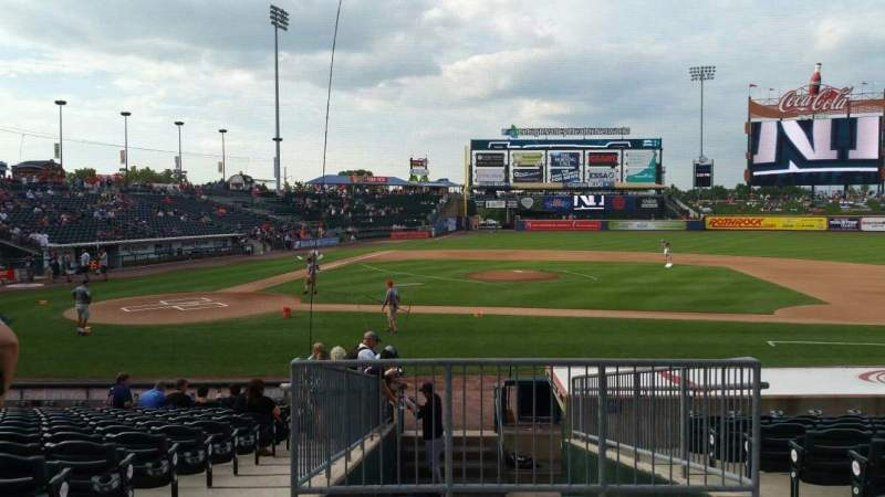 Seating view for Coca-Cola Park Section 108 Row R Seat 17