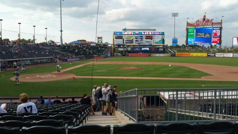 Seating view for Coca-Cola Park Section 108 Row R Seat 14