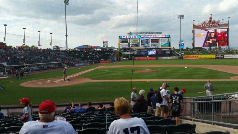 Seating view for Coca-Cola Park Section 108 Row M Seat 10