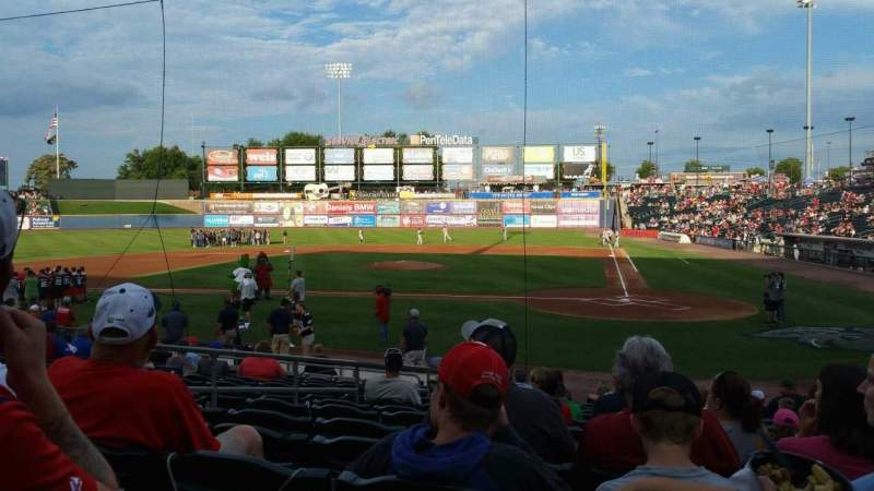 Seating view for Coca-Cola Park Section 115 Row Q Seat 9