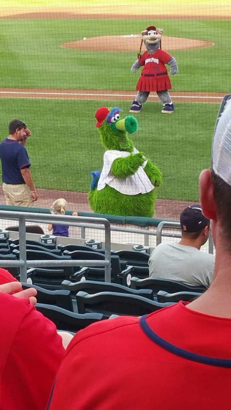 Seating view for Coca-Cola Park Section 115 Row R Seat 10