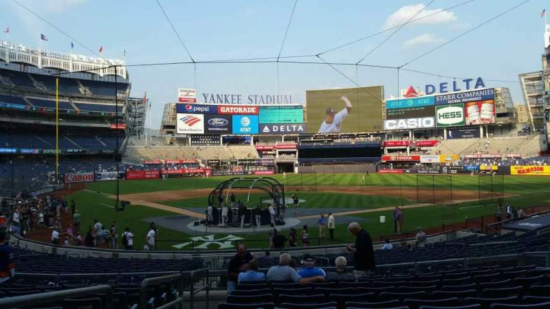Seating view for Yankee Stadium Section 119 Row 11 Seat 8