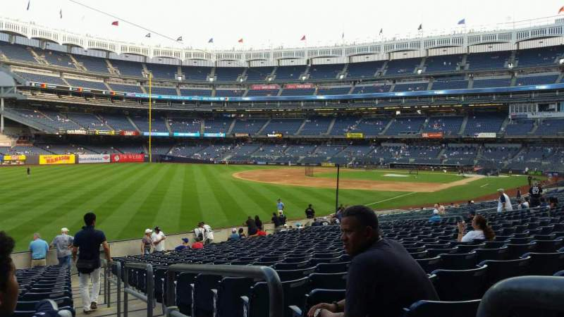 Seating view for Yankee Stadium Section 131 Row 19 Seat 1