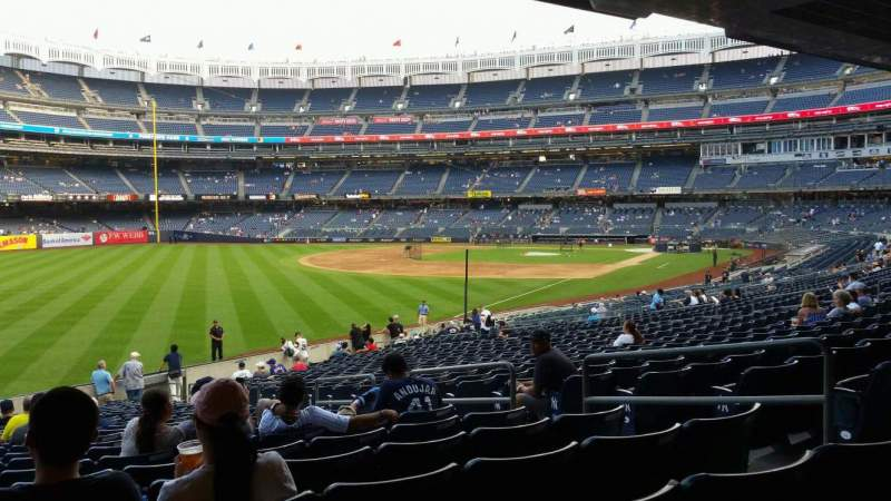 Seating view for Yankee Stadium Section 131 Row 23 Seat 7