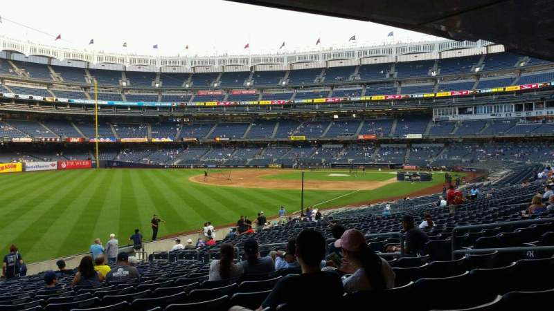 Seating view for Yankee Stadium Section 131 Row 23 Seat 10