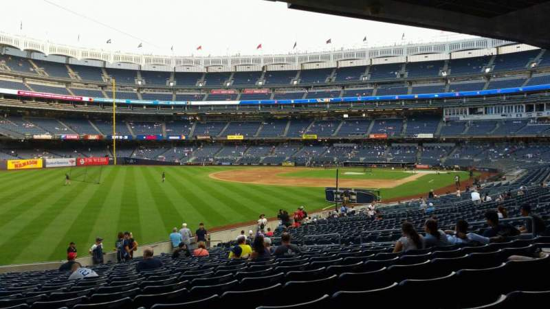 Seating view for Yankee Stadium Section 131 Row 23 Seat 16