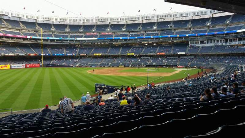 Seating view for Yankee Stadium Section 131 Row 23 Seat 19