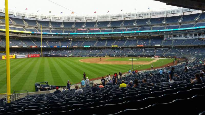 Seating view for Yankee Stadium Section 131 Row 23 Seat 21