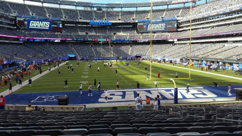 Seating view for MetLife Stadium Section 128 Row 21 Seat 7