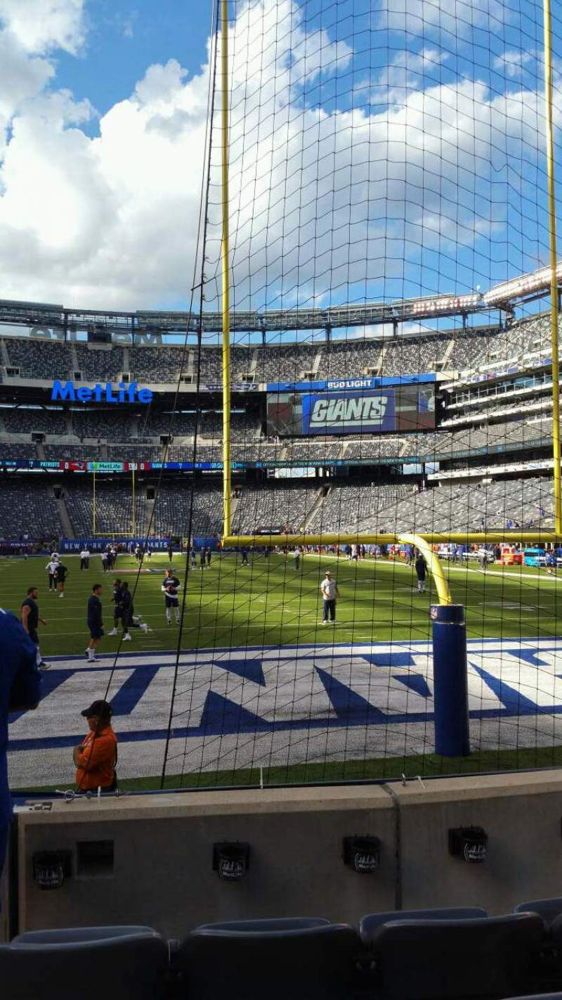 Seating view for MetLife Stadium Section 126 Row 4 Seat 22