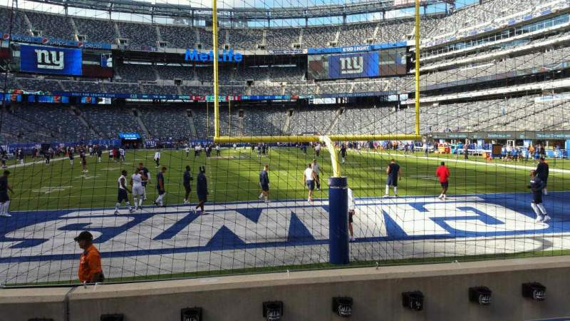 Seating view for MetLife Stadium Section 126 Row 4 Seat 18
