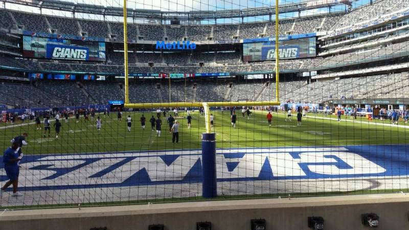 Seating view for MetLife Stadium Section 126 Row 4 Seat 14