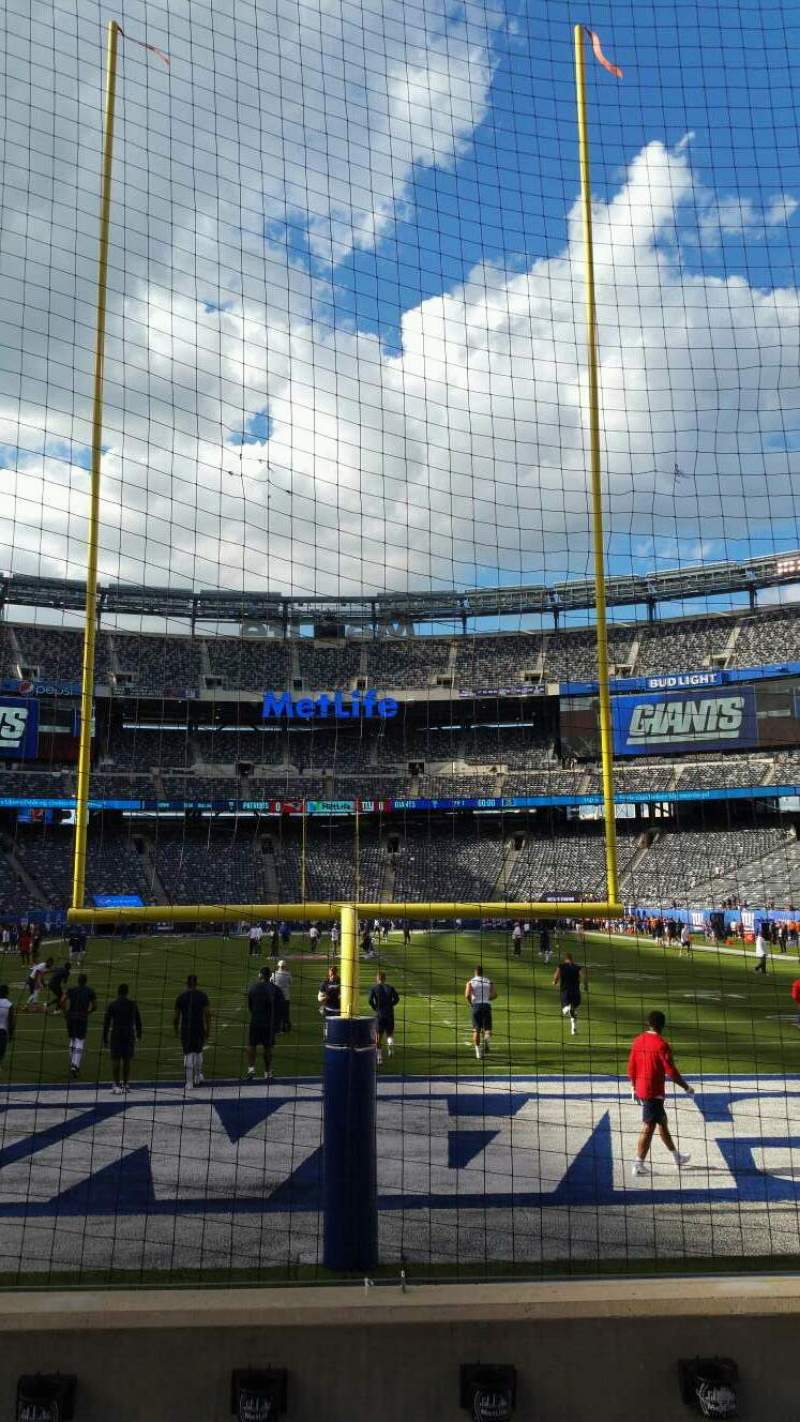 Seating view for MetLife Stadium Section 126 Row 4 Seat 12
