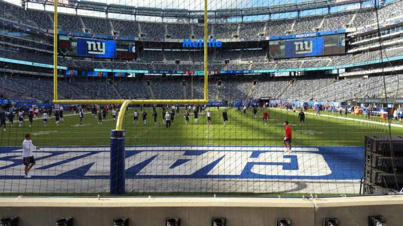 Seating view for MetLife Stadium Section 126 Row 4 Seat 6