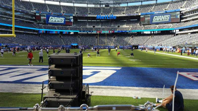 Seating view for MetLife Stadium Section 124 Row 1 Seat 16