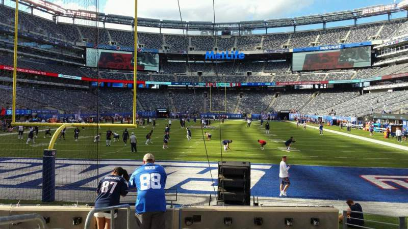 Seating view for MetLife Stadium Section 124 Row 7 Seat 22