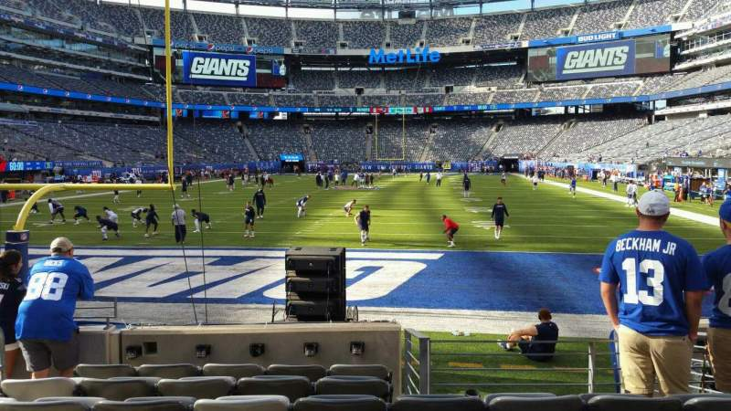 Seating view for MetLife Stadium Section 124 Row 7 Seat 18
