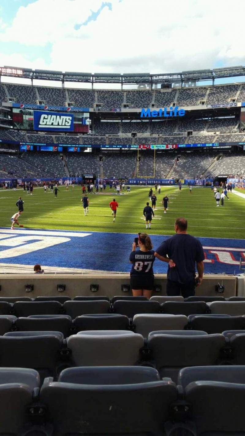 Seating view for MetLife Stadium Section 124 Row 7 Seat 5