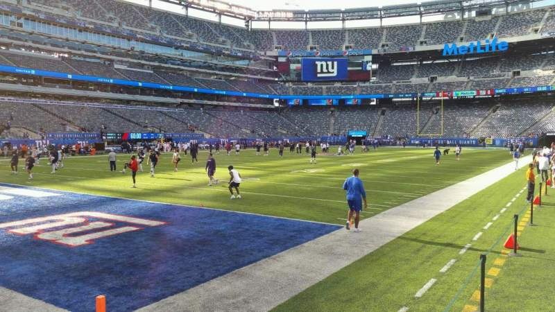 Seating view for MetLife Stadium Section 121 Row 3 Seat 5