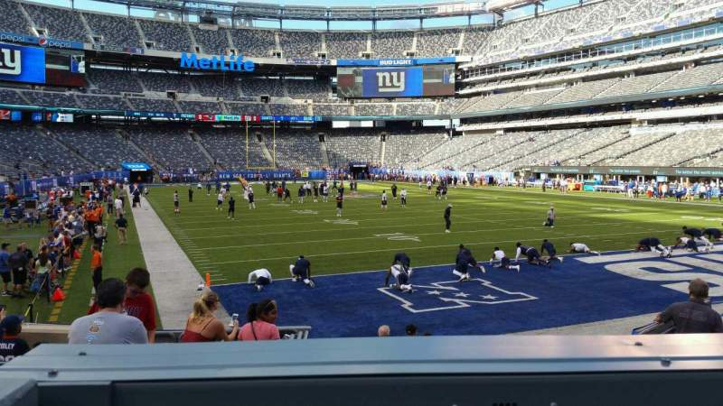 Seating view for MetLife Stadium Section 129 Row 10 Seat 15