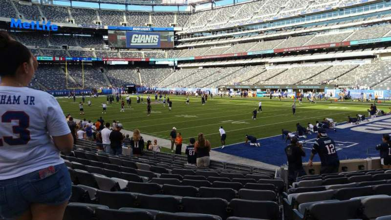 Seating view for MetLife Stadium Section 131 Row 12 Seat 14