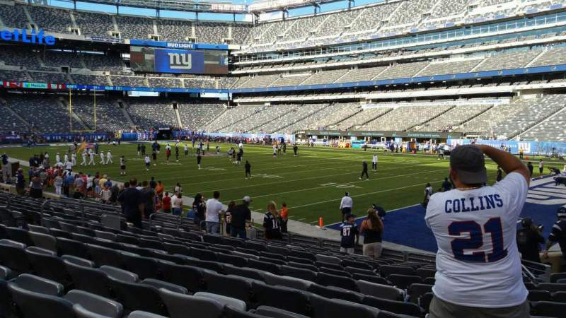 Seating view for MetLife Stadium Section 133 Row 13 Seat 1