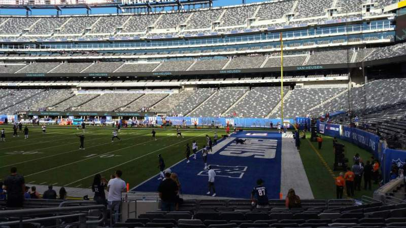 Seating view for MetLife Stadium Section 133 Row 13 Seat 14