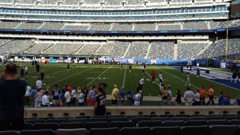 Seating view for MetLife Stadium Section 135 Row 8 Seat 9
