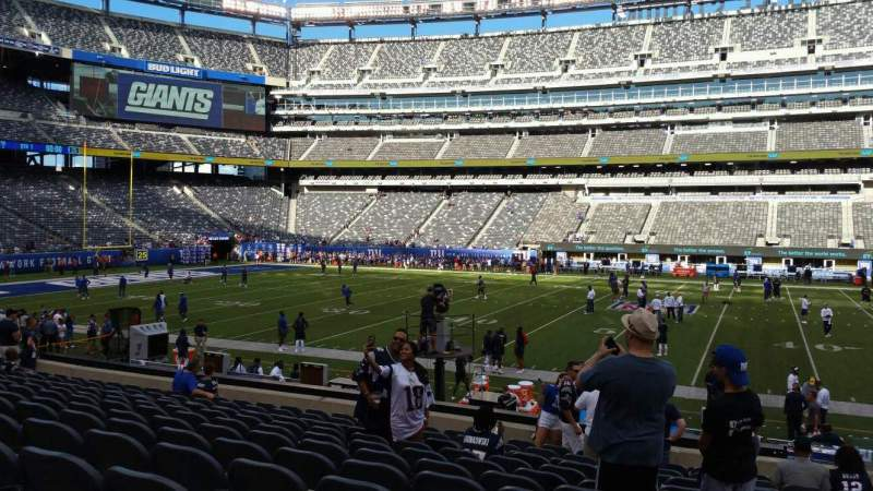 Seating view for MetLife Stadium Section 139 Row 18 Seat 1