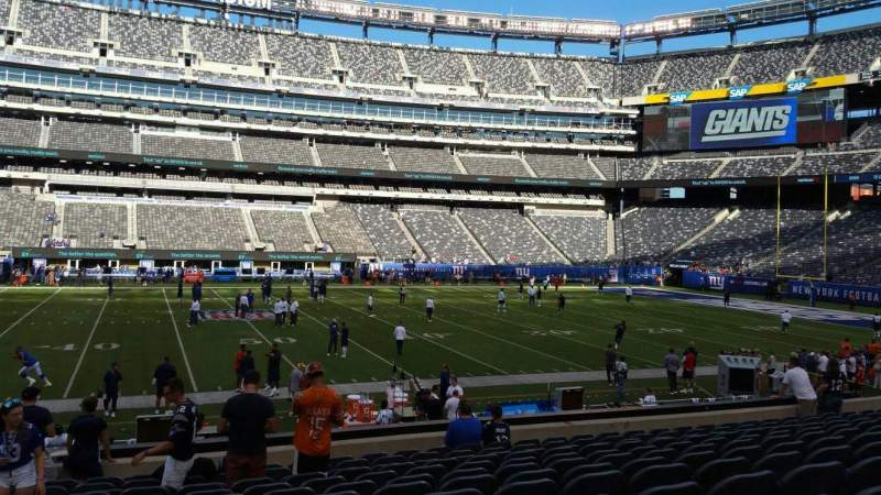 Seating view for MetLife Stadium Section 139 Row 27 Seat 30