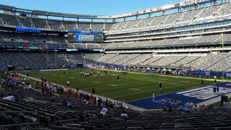 Seating view for MetLife Stadium Section 131 Row 27 Seat 22
