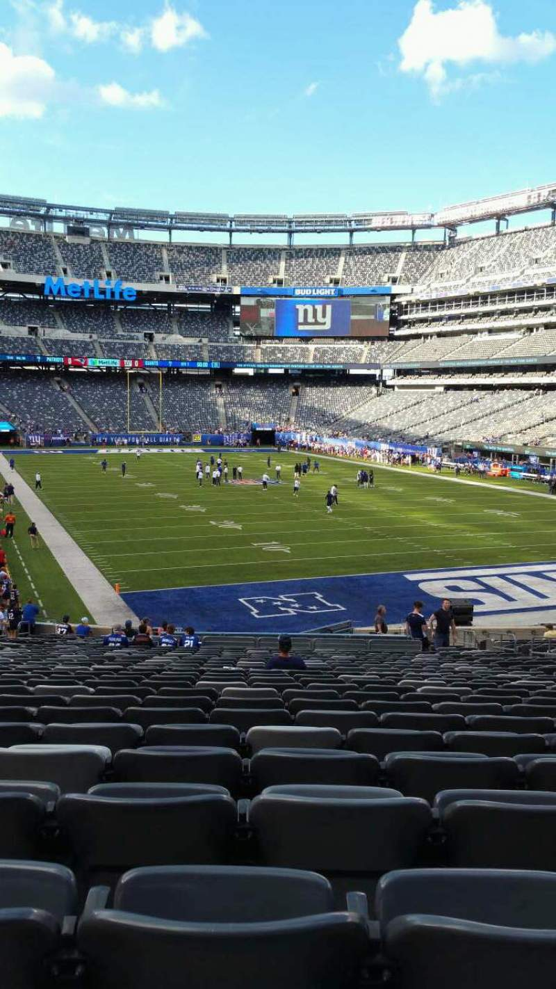 Seating view for MetLife Stadium Section 129 Row 31 Seat 15