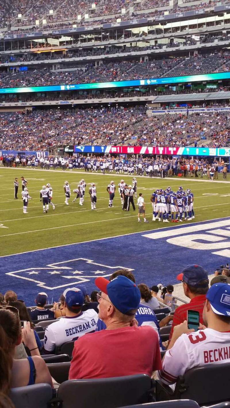 Seating view for MetLife Stadium Section 129 Row 15 Seat 25