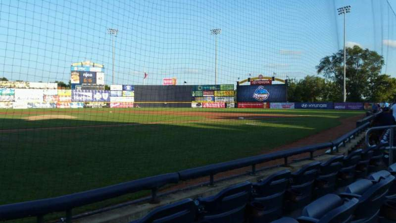 Seating view for Arm & Hammer Park Section 109 Row A Seat 8