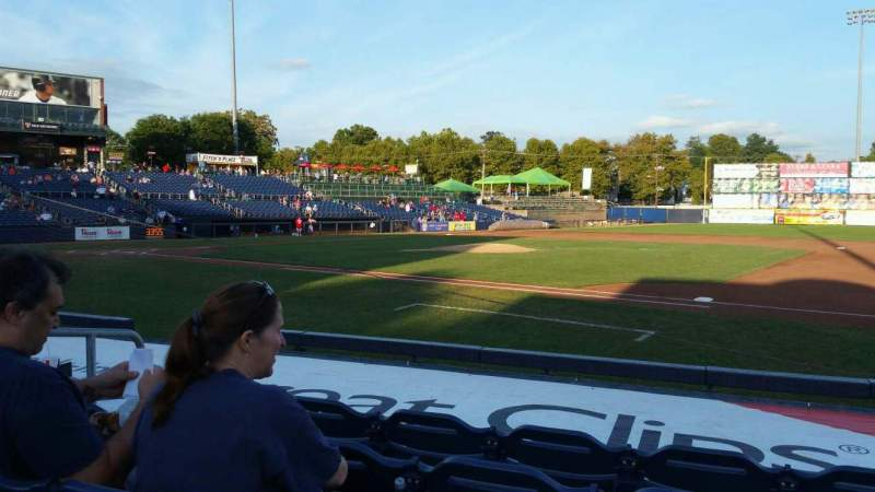 Seating view for Arm & Hammer Park Section 104 Row G Seat 5