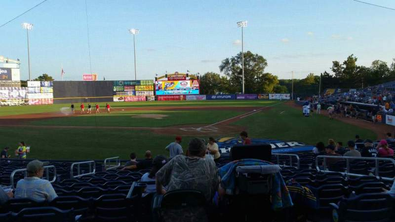 Seating view for Arm & Hammer Park Section 211 Row L Seat 8