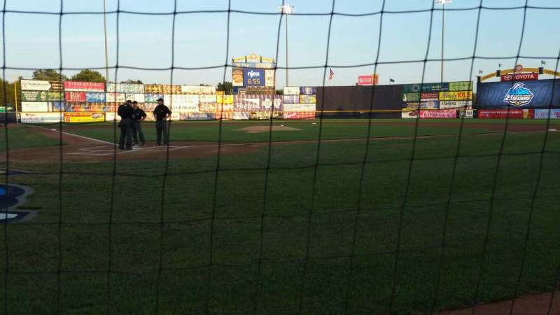 Seating view for Arm & Hammer Park Section 110 Row AA Seat 8