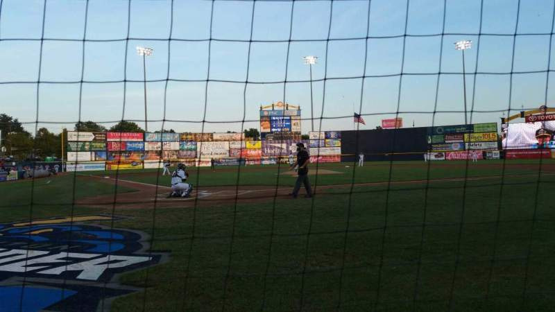 Seating view for Arm & Hammer Park Section 110 Row AA Seat 5