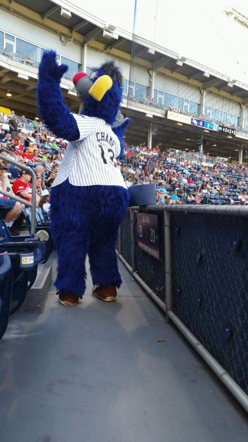 Seating view for PNC Field Section 20 Row 1 Seat 5