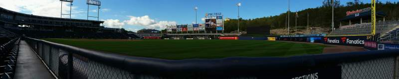 Seating view for PNC Field Section 11 Row 1 Seat 1