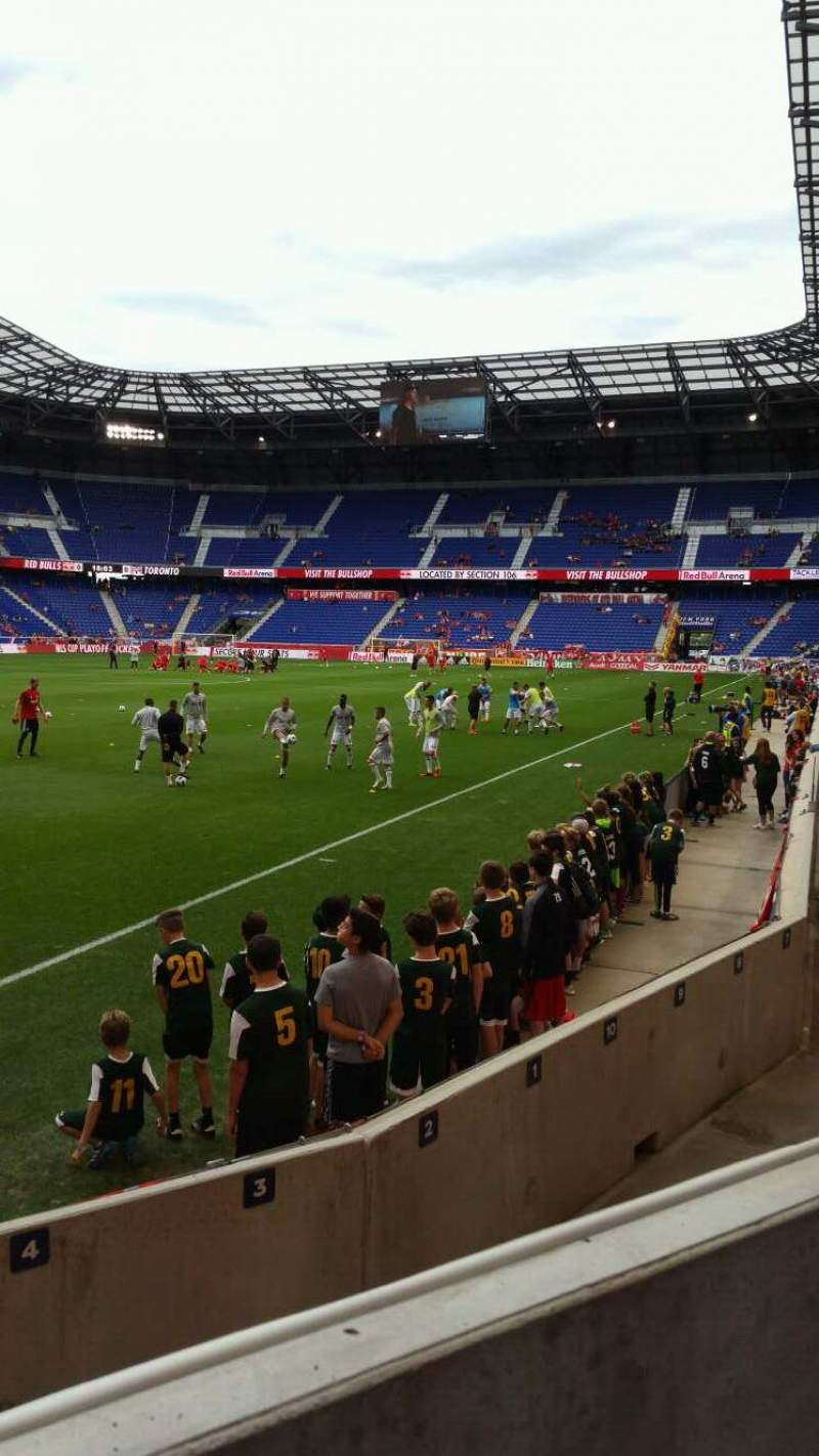 Seating view for Red Bull Arena Section 114 Row 4 Seat 9