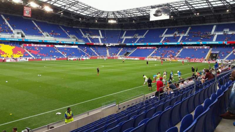 Seating view for Red Bull Arena (New Jersey) Section 112 Row 9 Seat 17