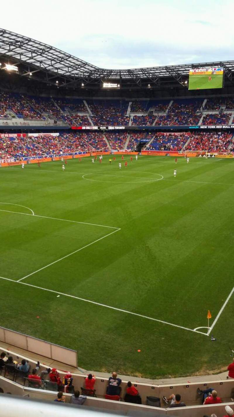 Red Bull Arena Section 215 Row 1 Seat 27 New York Red Bulls