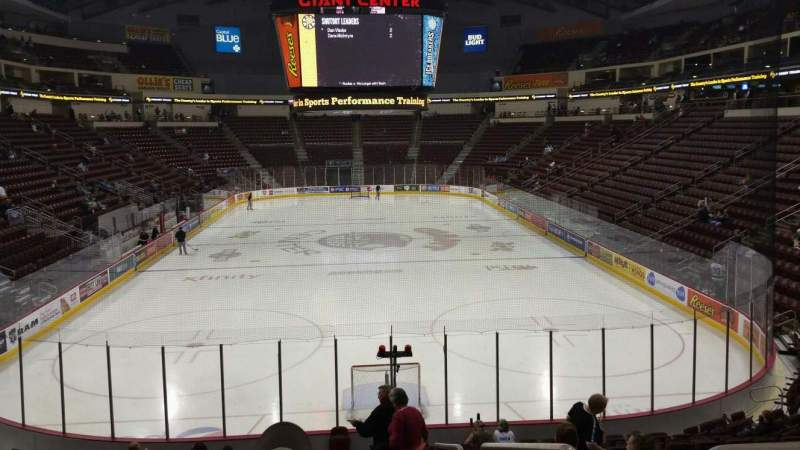 Seating view for Giant Center Section 126 Row S Seat 1