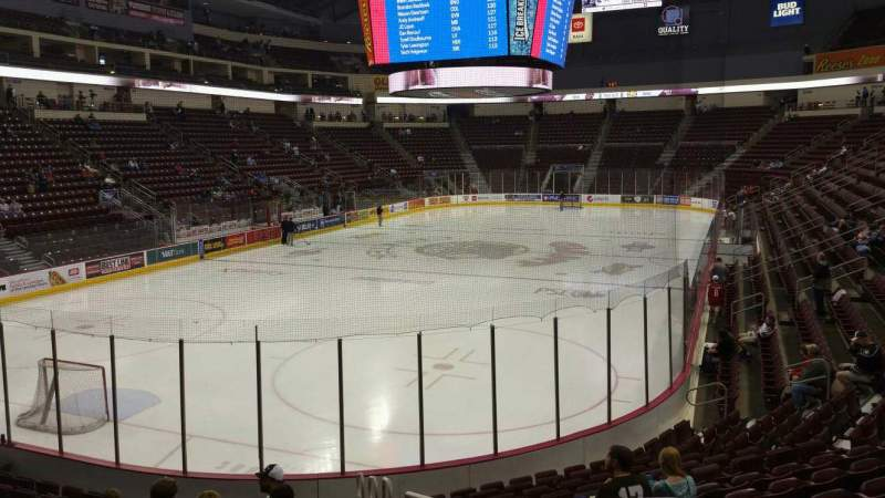 Seating view for Giant Center Section 102 Row N Seat 1