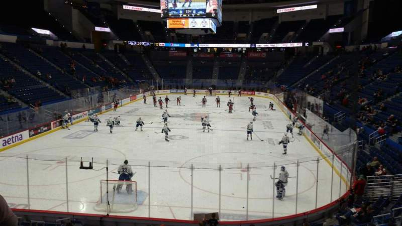 Seating view for XL Center Section 109 Row T Seat 1